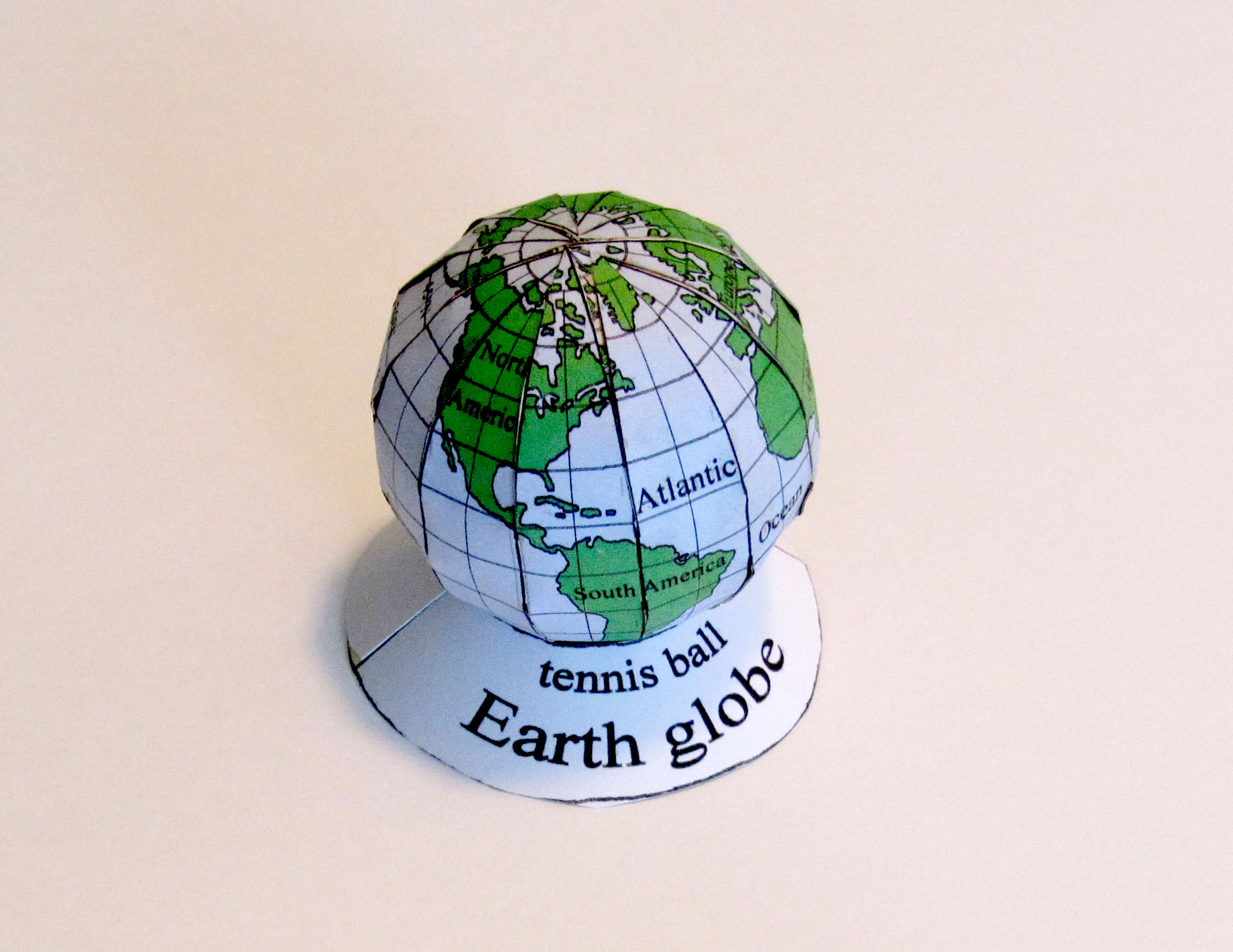 picture of Earth globe model