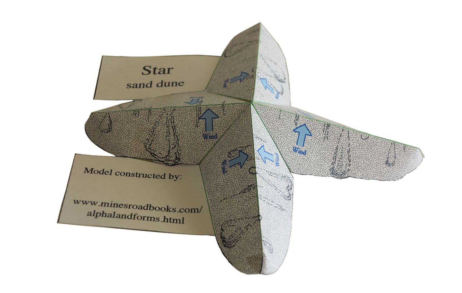 picture of star sand dune model