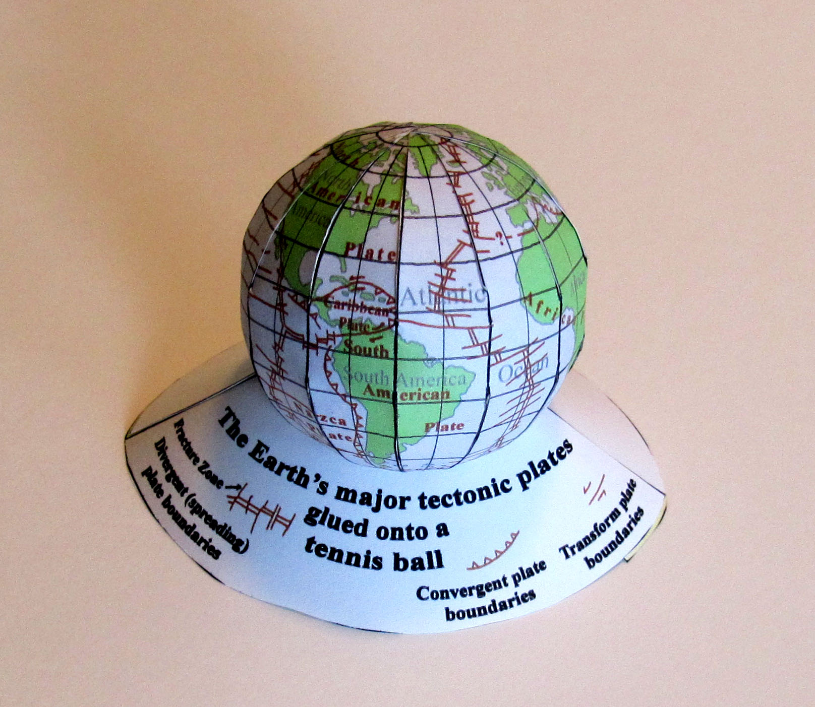 picture of tectonic Earth model